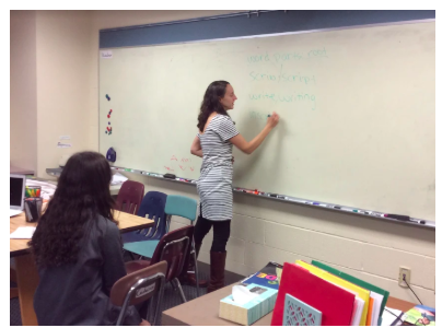 Mrs. Wixted teaching one of her ELD classes.